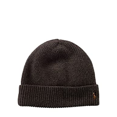 Ralph Lauren Polo Signature Merino Cuff Hat Men s One Size at Amazon ... 1676e7255f1