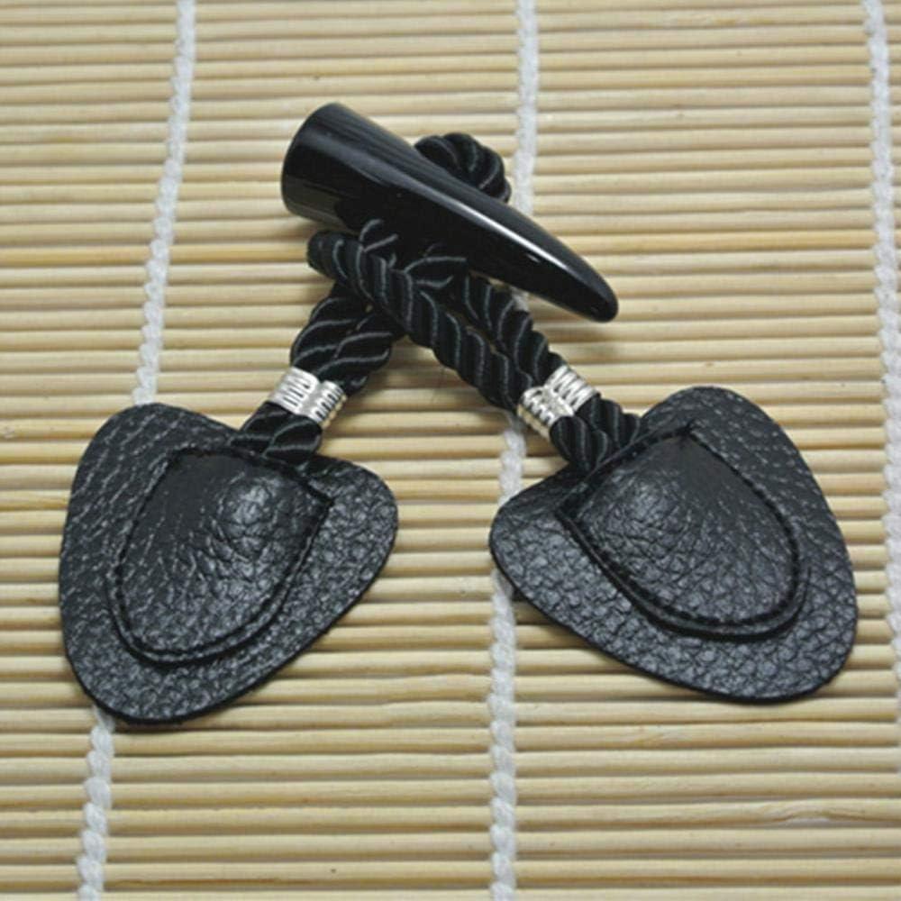 WSNDD 2 Pares 17cm Botones de la Resina para Ajustar la Chaqueta de la Capa de Lona Abrigo Conjunto oscilante con Accesorios Parche de Ropa de Cuero Botones,Negro