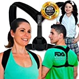 Back Posture Corrector Brace for Women, Men & Kids – Orthopedic Clavicle Support Invisible Under Clothes – Adjustable & Comfort Premium Therapy – Shoulder Cervical Medical Device By USA FARIA