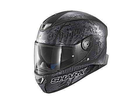 Shark SKWAL 2 SWITCH RIDER 2 MAT KAS Casco de motocicleta, negro, talla XS