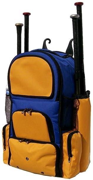 Royal Blue and Athletic Gold Chita II (L) Adult Softball Baseball Bat  Equipment Backpack d66b4289a5fed