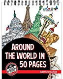 Around The World In 50 Pages highlights some of the most iconic city landmarks ever created. As you hop from New York, London, Paris, Amsterdam, Moscow, Hong Kong, and everywhere else, you'll forget you're coloring. There are a variety of architectur...