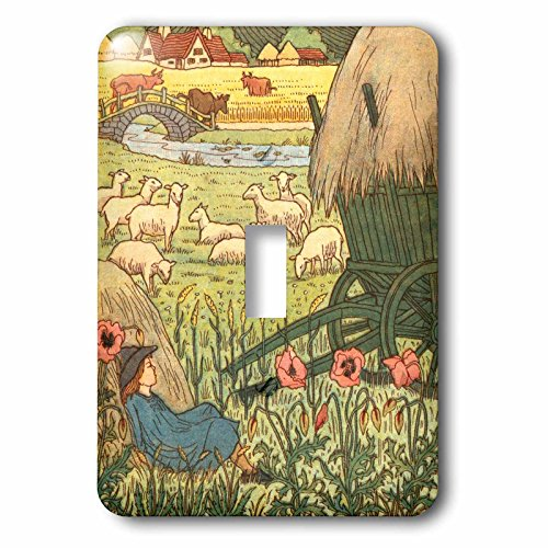 3dRose lsp_222027_1 Little Boy Blue- Victorian Illustration for Nursery Rhyme Single Toggle Switch Multicolor