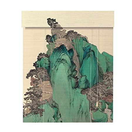 Chaxia Persiana De Bambú Enrollable Hd Impresión Persianas