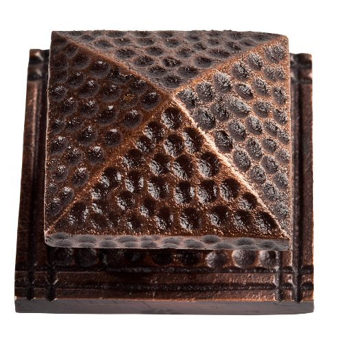 The Copper Factory CF111AN Solid Cast Copper Large Square Backplate, Antique - Square Factory