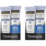 Neutrogena Ultra Czzme Sheer Sunscreen, Dry-Touch SPF 45, 6 Fluid Ounce (2 Pack)