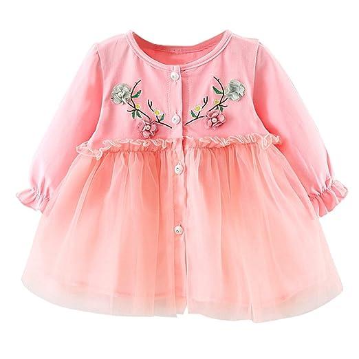 60bc1ef29097 Amazon.com  Baby Cute Tutu Dresses Newborn Infant Flower Gauze ...