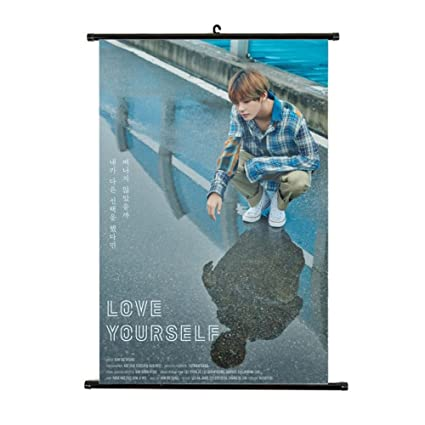 Kpop BTS Bangtan Boys Love Yourself 承 'HER' Poster Wall Scroll Hanging  Paintings for ARMY (1 H06)