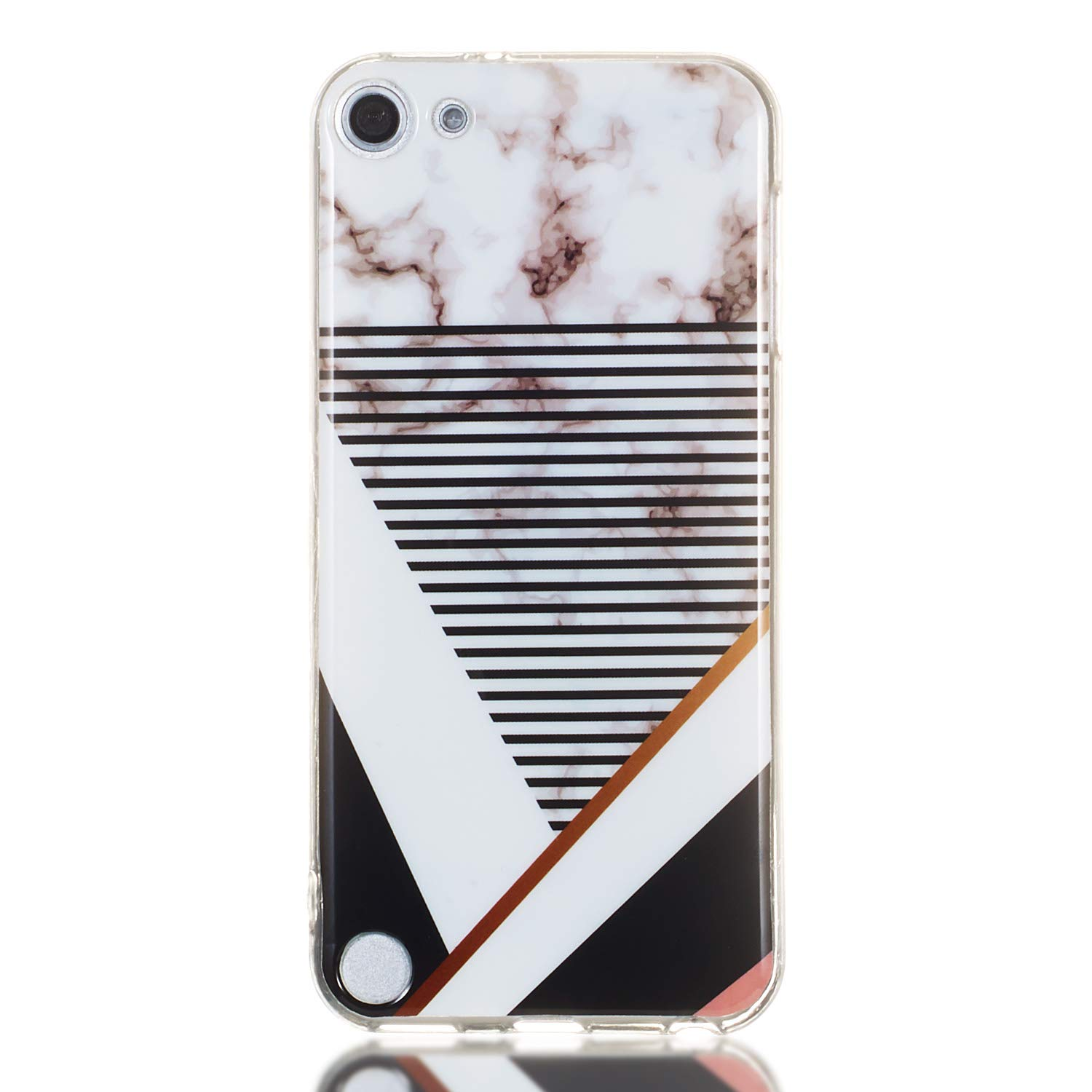 Yobby Marbre Coque pour iPod Touch 5,Coque iPod Touch 6 Souple Silicone Mignon Ultra Fine Blanc Phrases Motif Mince Flexible Caoutchouc Antichoc Housse Etui de Protection