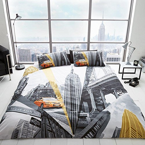 New York Fifth Avenue 2 Piece UK King /US Queen Sheet Set, 1 x Double Sided Sheet and 2 x - New York Avenue Stores 5th