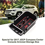 LFOTPP Car Center Console Armrest Box Glove Box Secondary Storage Tray for 2017 2018 JEEP Compass