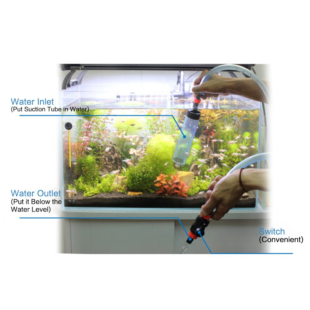 HEEPDD Aquarium Gravel Cleaner Fish Tank Siphon Semi-Automatic Water Changer Aquarium Sand Gravel Cleaning Tool for Fish Tank Aquarium