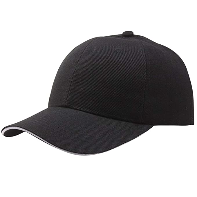 Otoño Gorra De Béisbol Mujer Moda para Hombre Calle Hip Hop Gorras Ajustables Sombreros De Gamuza para Hombres Negro Blanco Gorras Snapback Negro: ...