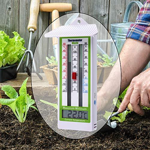 Casa jardinería invernadero MAX MIN Termómetro Temperatura Escala de Monitoreo Nuevo
