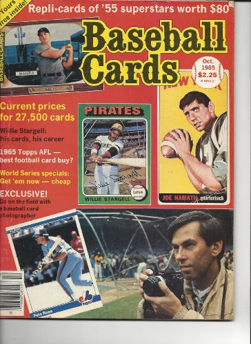 Baseball Cards Magazine October 1985