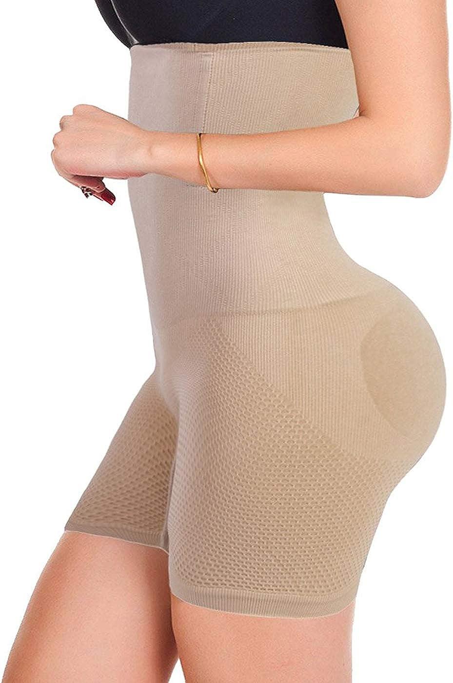 FUT Womens High Waist Cincher Trainer Panties Butt Lifter Body Shaper Tummy Control Shorts