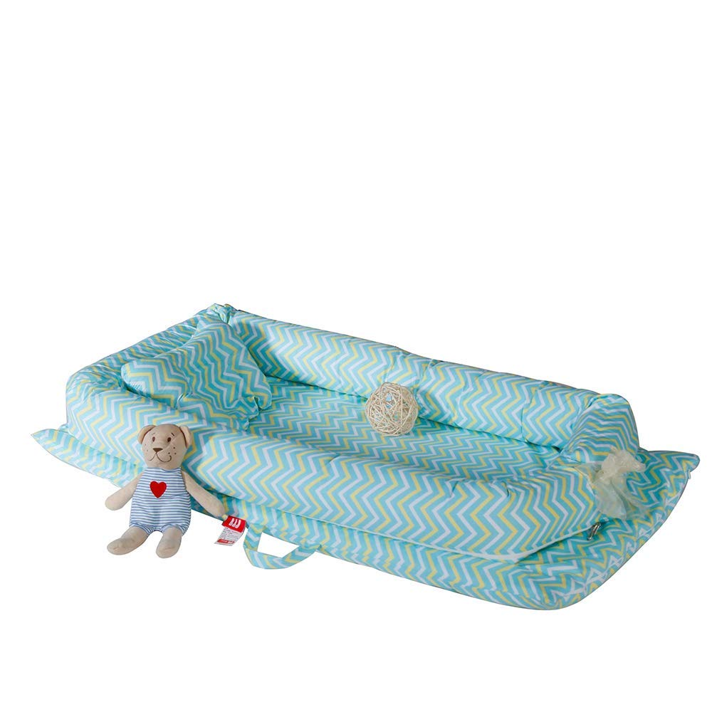 MatSailer Baby Lounger for Bed, Baby Nest Sharing Co-Sleeping Baby Bassinet, 100% Cotton Portable Crib & Cradles Lounger Cushion for Bedroom Travel, Best Shower Gift Ideal by MatSailer