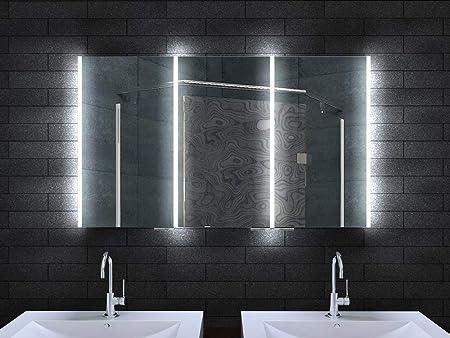 Amazon De Lux Aqua Alu Badschrank Badezimmer Spiegelschrank Bad Led