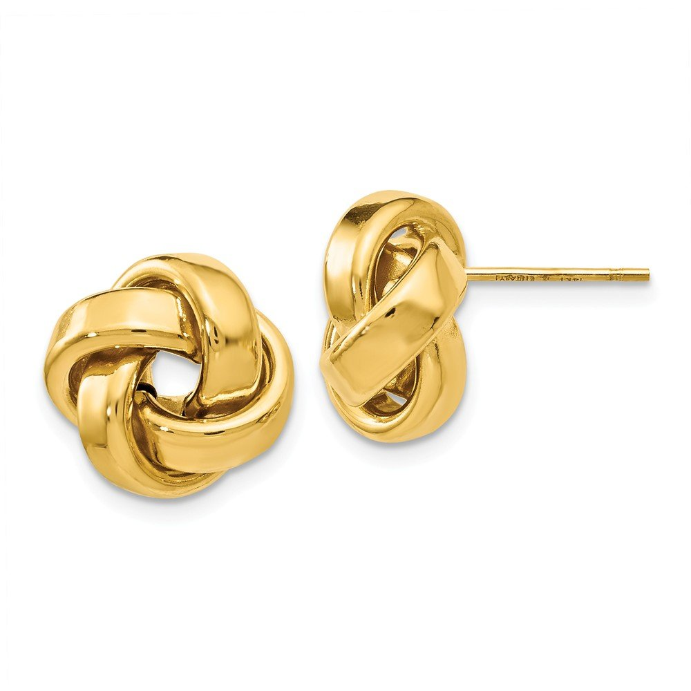 Top 10 Jewelry Gift Leslies 14k Polished Love Knot Post Earrings