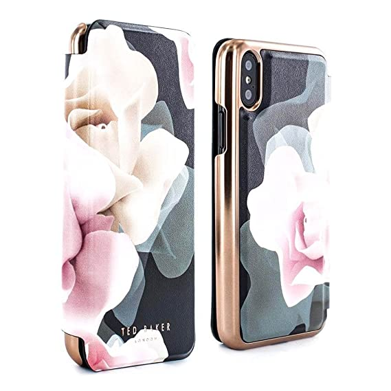 105f45d0e Amazon.com  Ted Baker KNOWIT Mirror Folio Case for iPhone X XS ...