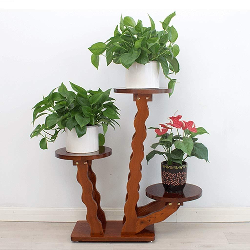 花ラック植物スタンド背の高い木の植物スタンドテーブル屋内装飾植物スツール家の装飾台座スタンド、ユニークな波状の花ラックプランター棚、植物トレイ表示 (サイズ さいず : 3 shelves) B07R5WRZCR  3 shelves