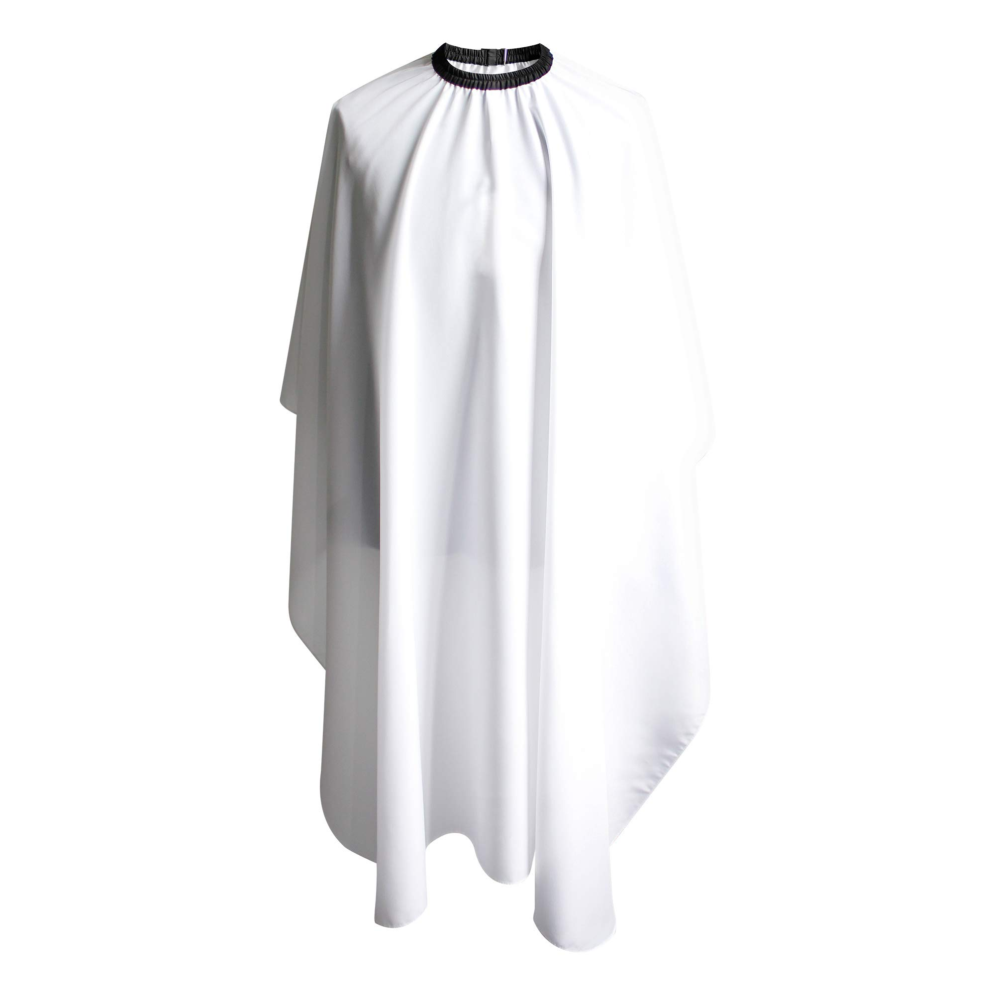 SMARTHAIR Professional Salon Cape Polyester Haircut Apron Hair Cut Cape,54''x62'',White,C026005B by SMARTHAIR