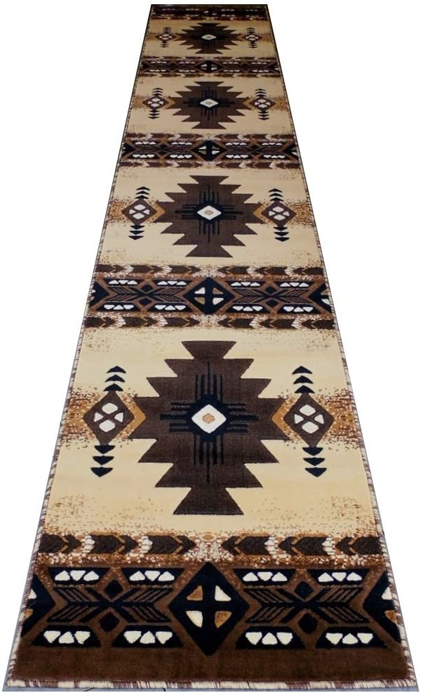 Concord Global Trading South West Native American Long Runner Area Rug Design C318 Berber (32 Inch X 15 Feet 6 Inch)
