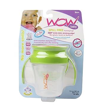 Amazon.com : Wow Baby Spill Free 360 Training Cup - Green/Orange - 7 ...