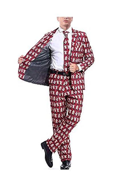 3 sizes Christmas Holiday Wear fnt Adult size Santa Tuxedo Costume