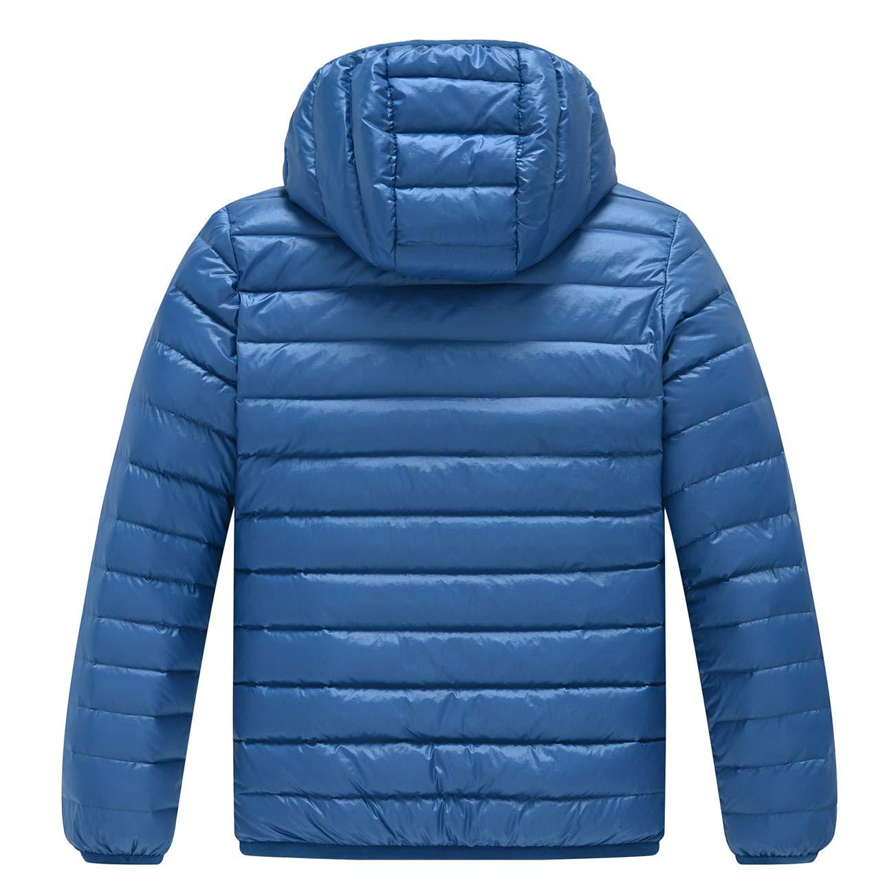 AYMA Ultra Light Boys Lightweight Packable Short Down Jacket