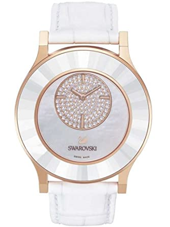 51902542d7caab Buy Swarovski Octea Classica Asymmetric White Rose Gold Tone Watch 5095482  Online at Low Prices in India - Amazon.in