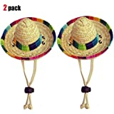 Dogs Sombrero Hat Dogs Sun Hat Party Hats for Dogs Mexican Style Hat for Dogs and Cats Funny Dog Costume