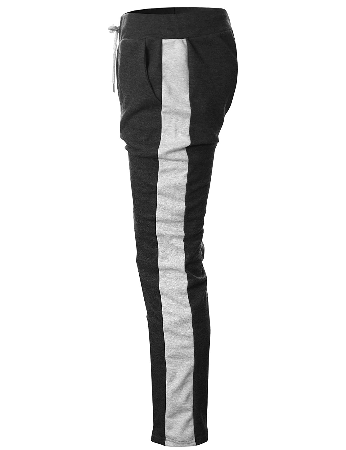GIVON Mens Slim Fit Lightweight Training Active Sweatpant with Color Trim