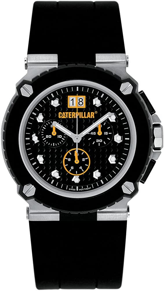 Caterpillar S 3000 CA1623 - Reloj de Caballero de Cuarzo, Correa de Caucho Color Negro