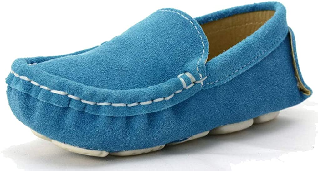 D.S.mor Boys Girls Comfortable Faux Suede Slip On Loafers Childrens Loafers Shoes