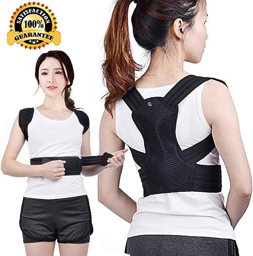 Black Posture Corrector for Men /& Women Breathable Shoulder Brace Adjustable and Comfortable