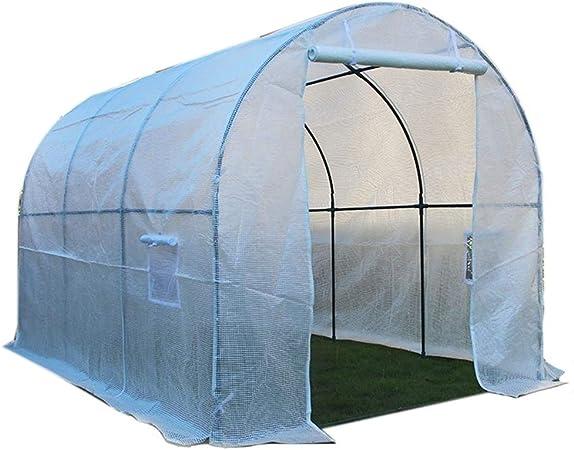 Invernaderos Plastico huerto terraza Grande de Servicio Pesado, jardín portátil, Exterior, casa de Cultivo ecológica con Puerta con Cremallera y Marco de Acero (Size : 250×200×200CM): Amazon.es: Hogar