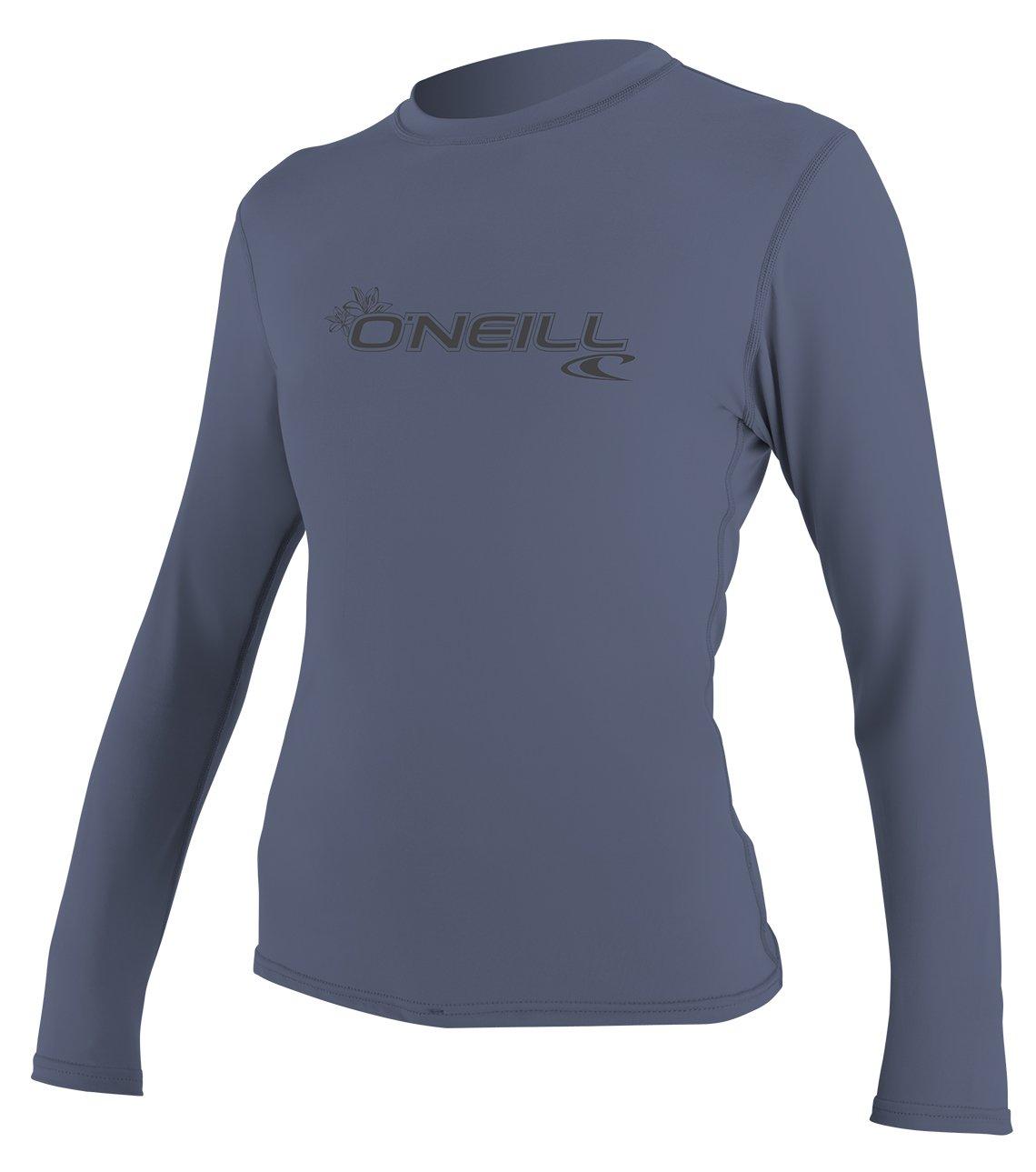 O'Neill Women's Basic Skins Upf 50+ Long Sleeve Sun Shirt, Mist, Large by O'Neill Wetsuits