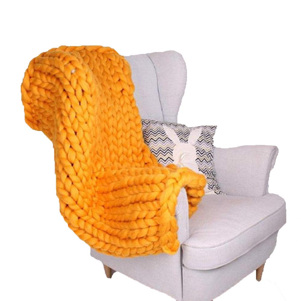 50x60,Orange Treely Super Soft Knitted Throw Blanket for Couch Sofa Chair Home Decor,Cozy Knit Throws