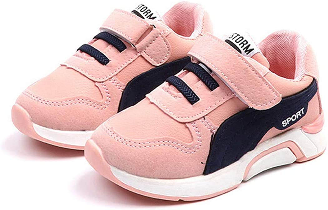 Flyingdogs Kids Sneakers Spring Casual Shoes Boys Girls Sport Shoes Cute Sneakers Shoes Pink 5.5M US