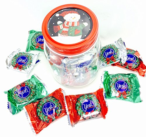 Happy Holidays ~ Holiday Themed Reusable Jar Filled with Candy Personalized Theme Candy Jars