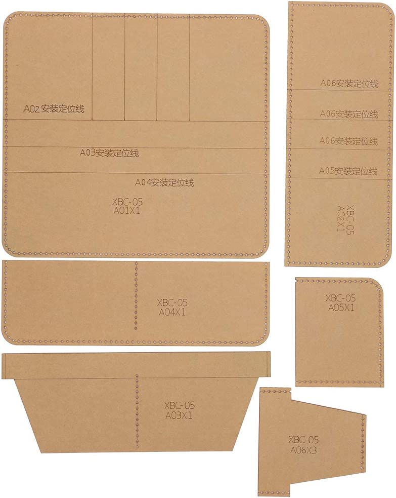 YINUODAY carpeta de acrílico plantilla de cuero transparente herramientas de trabajo y suministros manual DIY cartera cuero artesanía para cartera larga