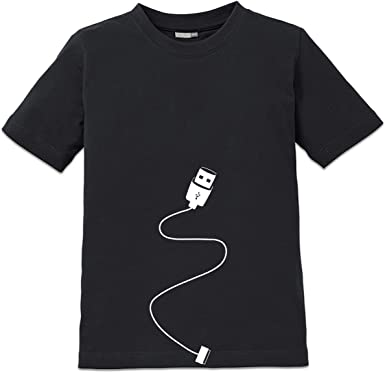Shirtcity Camiseta de niño Smartphone USB Charger by: Amazon.es ...