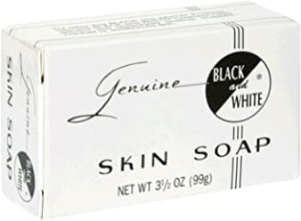 Black & White Skin Soap Bar 3.5 oz (Pack of ...