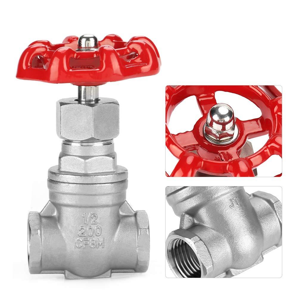 /Öl und Gas 2 f/ür Wasser Absperrschieber , DN15 Edelstahl-Absperrschieber BSPP G1