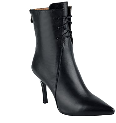 Womens Abaaj Pointed-Toe 8.5CM Zipper Boots Shoes Black 6.5 US