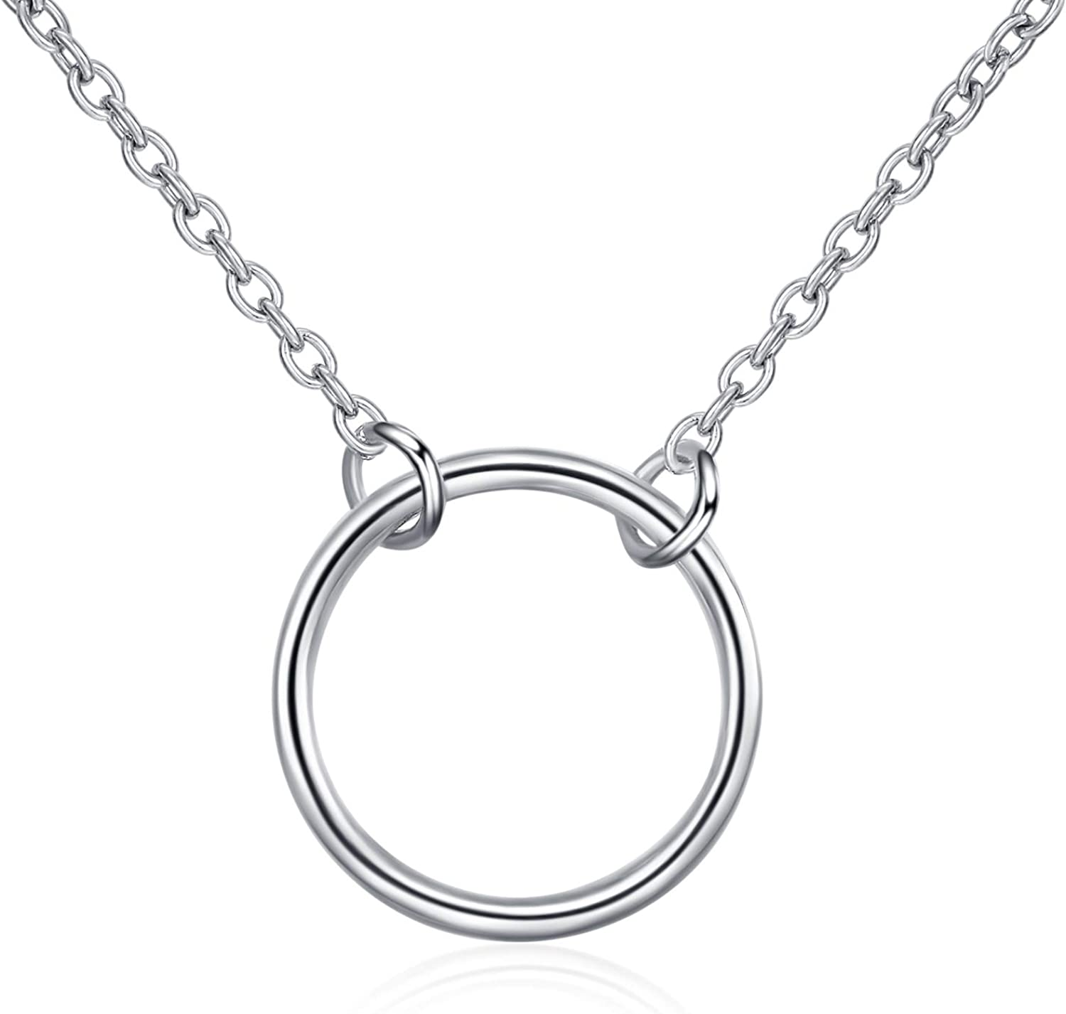 Small Sterling Silver Juggler/'s Club Necklace