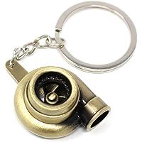VmG-Store Turbo sleutelhanger met draaiend verdichtingswiel (brons)