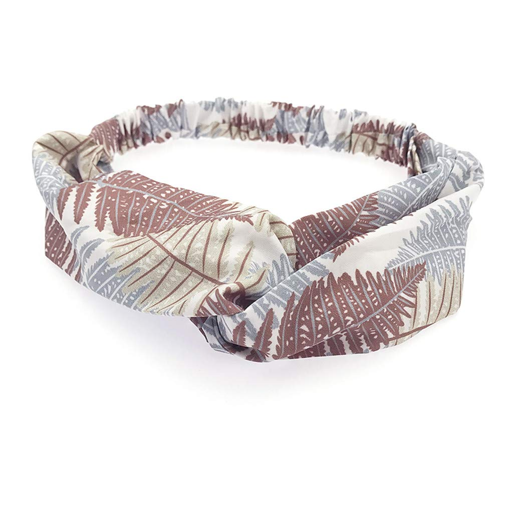 Bohemian printed hair band ladies cross knotted headband elastic cute print headband beach headband MEEYA