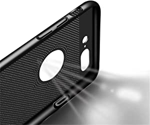 Case for iPhone 7 Plus, Ultra Slim/Thin Lightweight Breathable Cooling Mesh Case,Compatible with iPhone 7 Plus Case (Black)